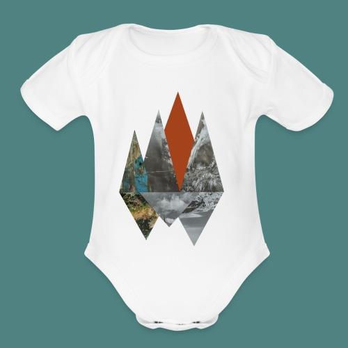 Peaks - Organic Short Sleeve Baby Bodysuit