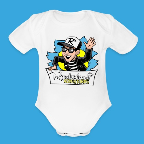 Randomland BURST Shirt - Organic Short Sleeve Baby Bodysuit