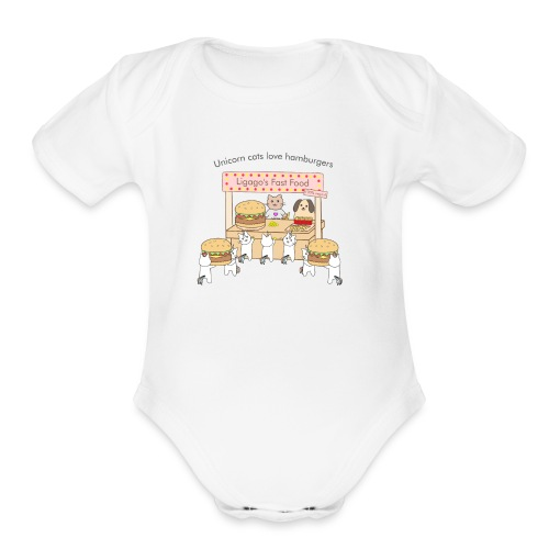 At the market - Organic Short Sleeve Baby Bodysuit