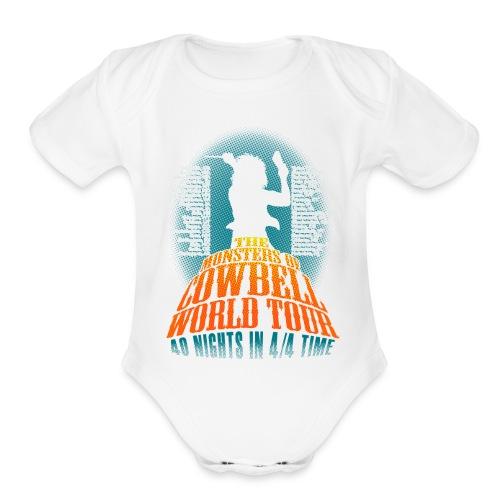 monstersofcowbellback - Organic Short Sleeve Baby Bodysuit