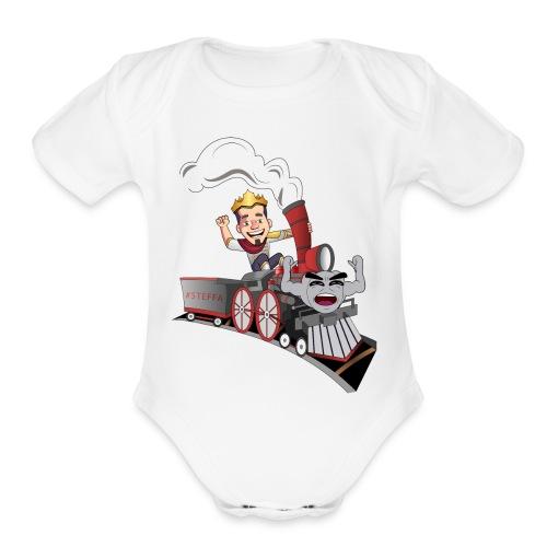 #Steffa - Organic Short Sleeve Baby Bodysuit