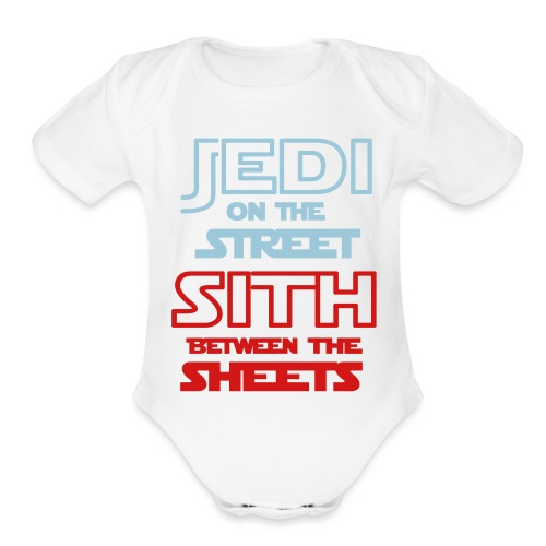 Jedi Sith Awesome Shirt - Organic Short Sleeve Baby Bodysuit