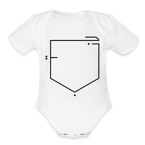 poche جيب - Organic Short Sleeve Baby Bodysuit