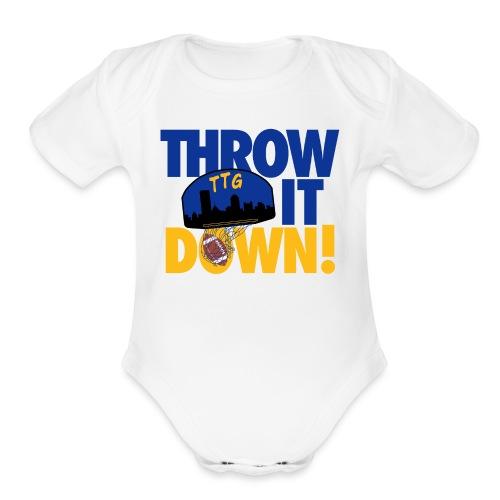Throw it Down - Organic Short Sleeve Baby Bodysuit