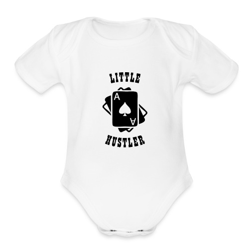 Little Hustler - Organic Short Sleeve Baby Bodysuit