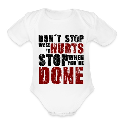 Gym motivation - Organic Short Sleeve Baby Bodysuit