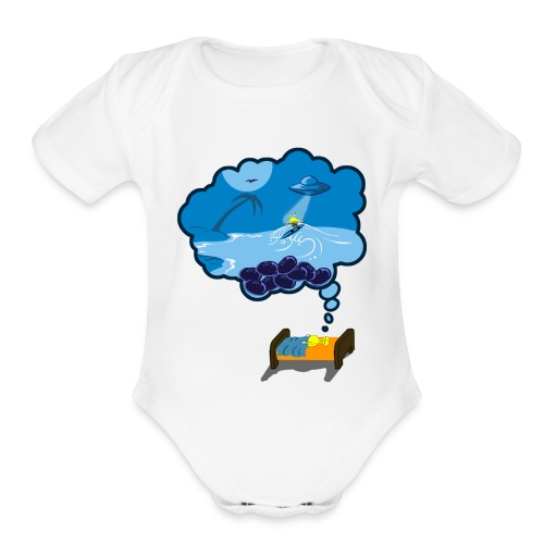 Strainge - Blue Dream Marijuana Strain shirt - Organic Short Sleeve Baby Bodysuit