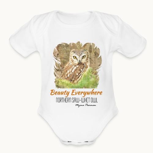 Beauty Everywhere Carolyn Sandstrom - Organic Short Sleeve Baby Bodysuit