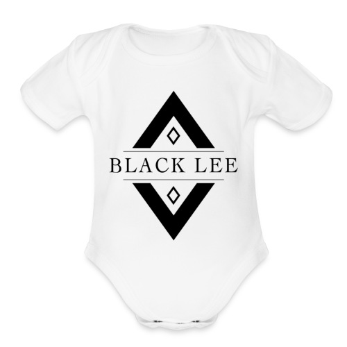 Black Lee Logo Transparent Black - Organic Short Sleeve Baby Bodysuit