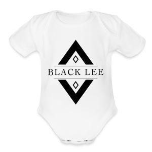 Black Lee Logo Transparent Black - Short Sleeve Baby Bodysuit
