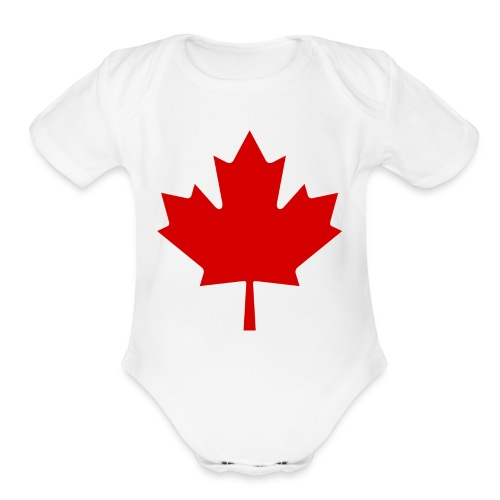 Canada Red Leaf - Organic Short Sleeve Baby Bodysuit