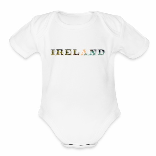 Ireland Scenic Irish Coast Travel - Best Seller - Organic Short Sleeve Baby Bodysuit
