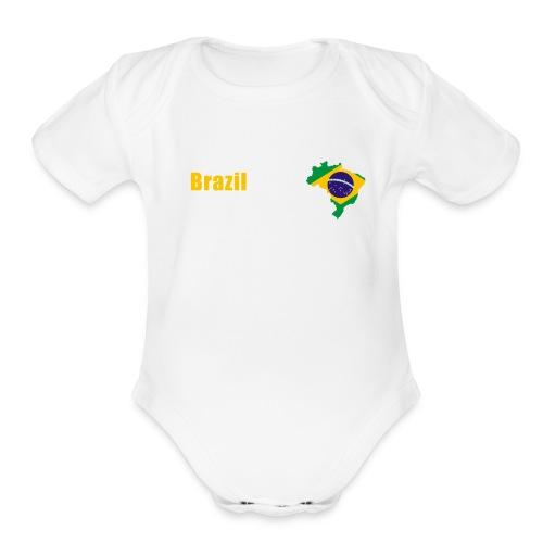 Brazil world cup T-Shirt - Organic Short Sleeve Baby Bodysuit
