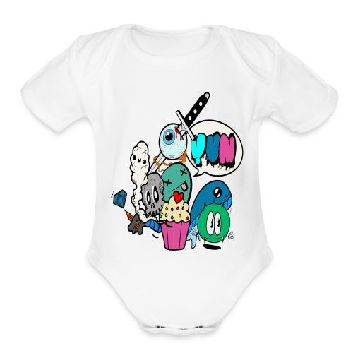Death by Cupcake - Organic Short Sleeve Baby Bodysuit