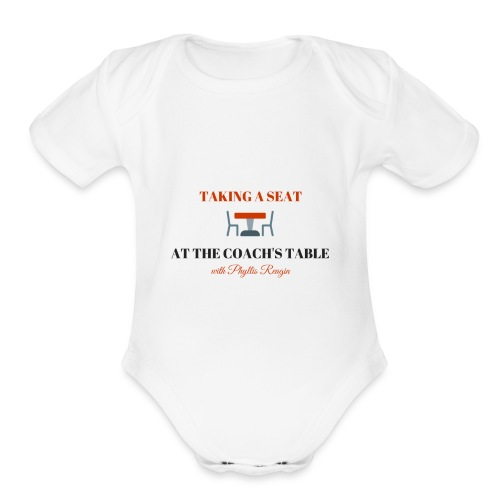 Taking a Seat At The Coach s Table - Organic Short Sleeve Baby Bodysuit