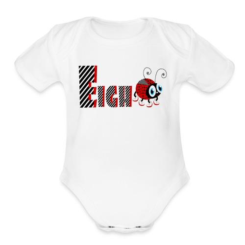 8nd Year Family Ladybug T-Shirts Gifts Daughter - Organic Short Sleeve Baby Bodysuit