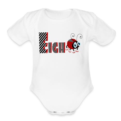 8nd Year Family Ladybug T-Shirts Gifts Daughter - Organic Short Sleeve Baby Bodysuit