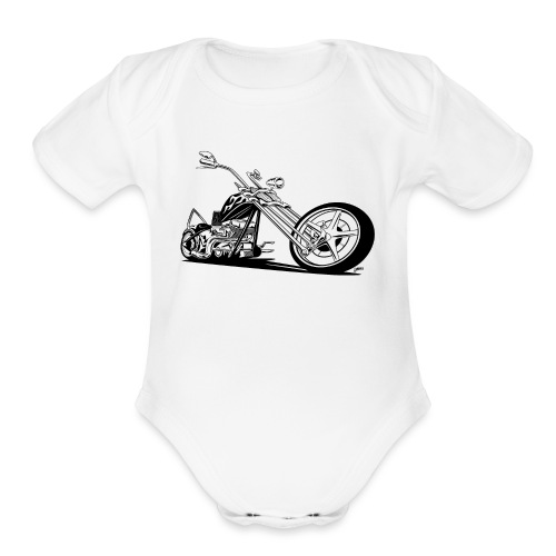Custom American Chopper Motorcycle - Organic Short Sleeve Baby Bodysuit