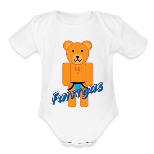 Furrrgus @ Underbear - Organic Short Sleeve Baby Bodysuit