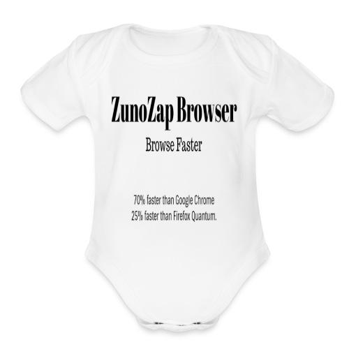 ZunoZap Browser - Organic Short Sleeve Baby Bodysuit