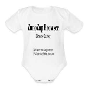 ZunoZap Browser - Short Sleeve Baby Bodysuit