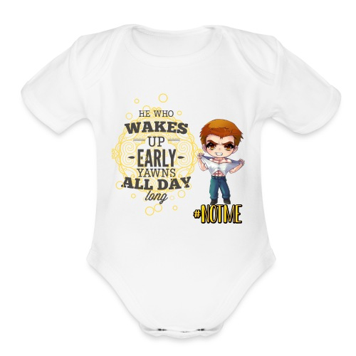 NOT ME! - Organic Short Sleeve Baby Bodysuit