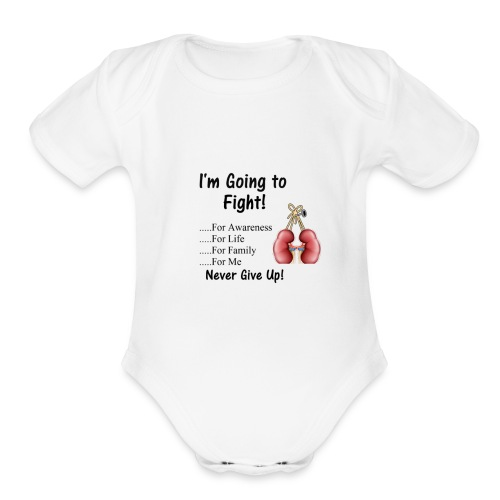 Knock Out Kidney Disease - Organic Short Sleeve Baby Bodysuit