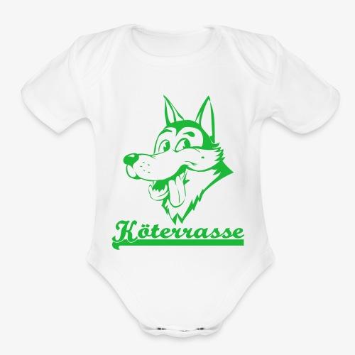 Köterrasse grün - Organic Short Sleeve Baby Bodysuit