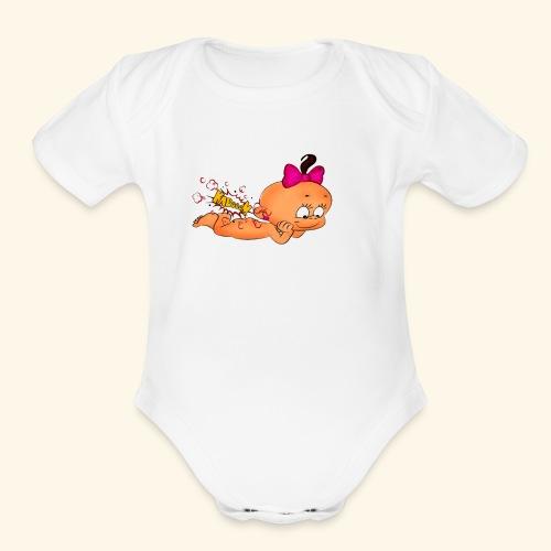 Babby Ka Boom - Organic Short Sleeve Baby Bodysuit