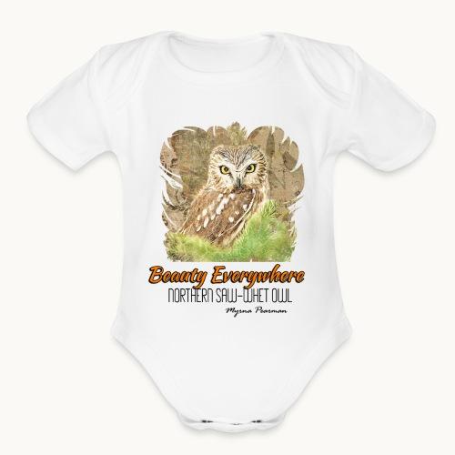 Beauty Everywhere -ORANGE- Carolyn Sandstrom - Organic Short Sleeve Baby Bodysuit