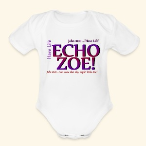 Echo Zoe - Short Sleeve Baby Bodysuit