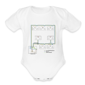 Electrical Circuit - Short Sleeve Baby Bodysuit