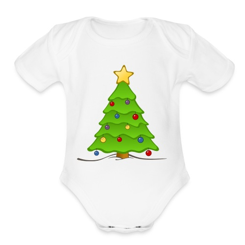 christmas merch - Organic Short Sleeve Baby Bodysuit
