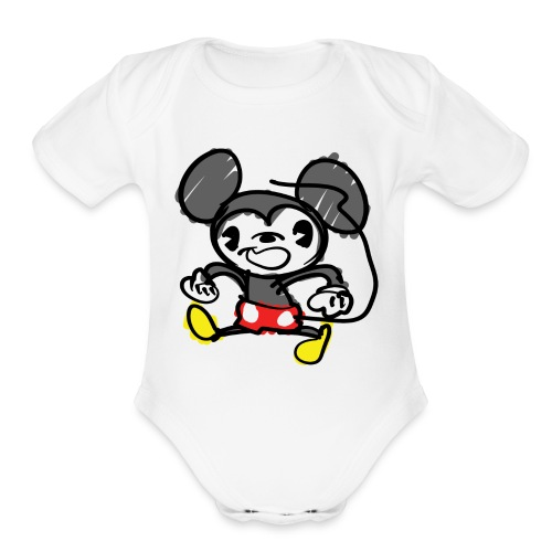 Morky Mouse - Organic Short Sleeve Baby Bodysuit