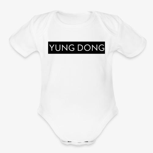 Yung Dong Box Logo - Organic Short Sleeve Baby Bodysuit