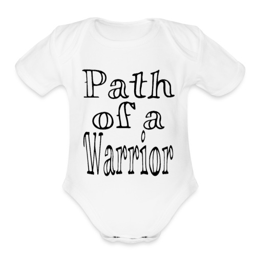 Path of a Warrior (White) - Organic Short Sleeve Baby Bodysuit