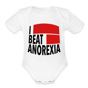 I Beat Anorexia - Short Sleeve Baby Bodysuit