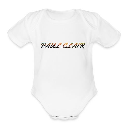 Rainbow Paul Clair Youth & Babies - Organic Short Sleeve Baby Bodysuit