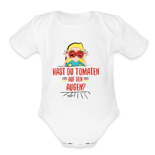 German Expression - Organic Short Sleeve Baby Bodysuit