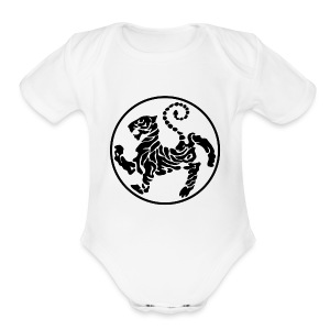 Shotokan-Tiger_black - Short Sleeve Baby Bodysuit