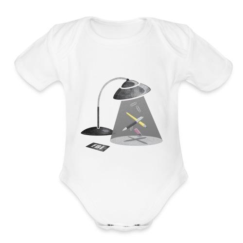 Desktop Abduction - Organic Short Sleeve Baby Bodysuit