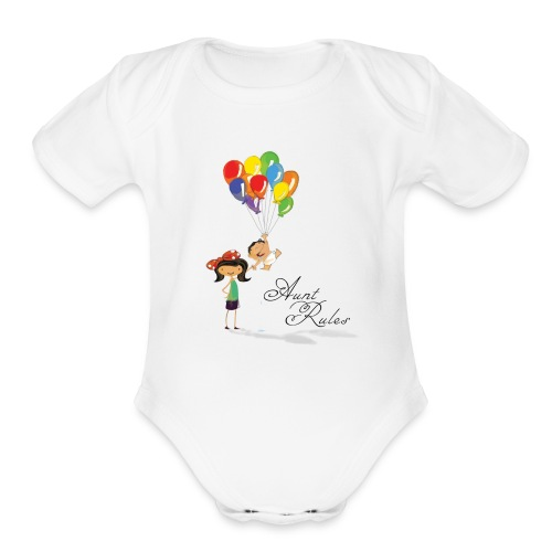 Aunt Rules - Organic Short Sleeve Baby Bodysuit