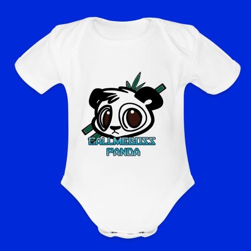 CallMeBossPanda - Organic Short Sleeve Baby Bodysuit
