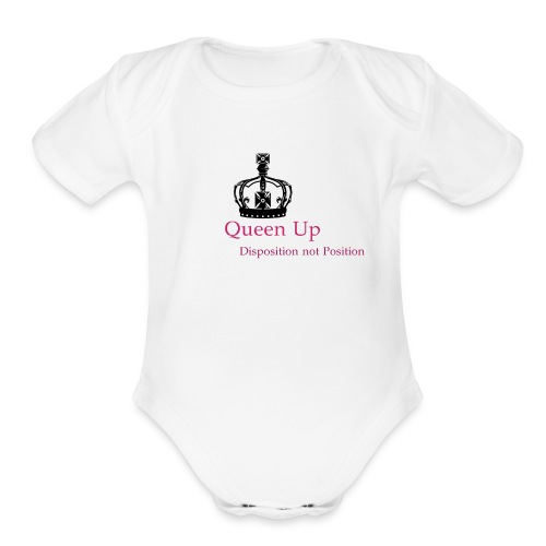 Queen Up - Organic Short Sleeve Baby Bodysuit