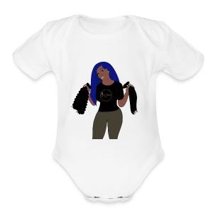 JeiDior Illustration - Short Sleeve Baby Bodysuit