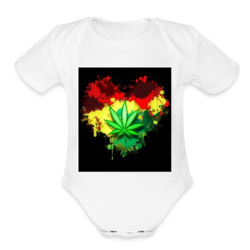 Mary Jane - Organic Short Sleeve Baby Bodysuit
