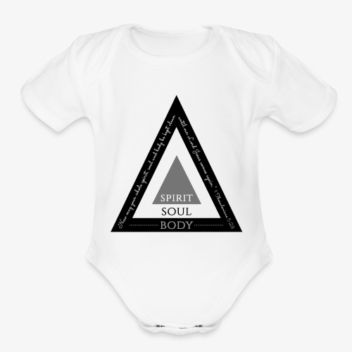 Spirit Soul Body - Organic Short Sleeve Baby Bodysuit