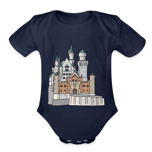 Neuschwanstein Castle, Bavaria - Organic Short Sleeve Baby Bodysuit