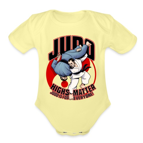 Judo Highs Matter - Organic Short Sleeve Baby Bodysuit