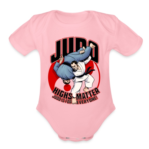 Judo Highs Matter - Organic Short Sleeve Baby Bodysuit
